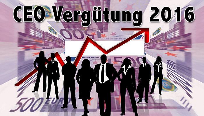 Vergütung CEOs 2016 (DAX, EURO STOXX 50, S&P 500)