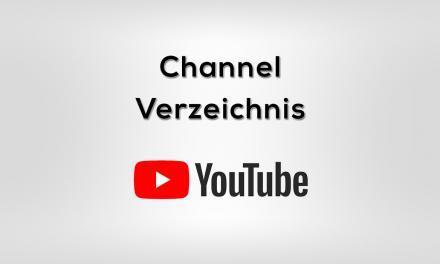 YouTube Channel Verzeichnis