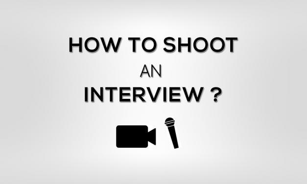 Video Shooting Interview