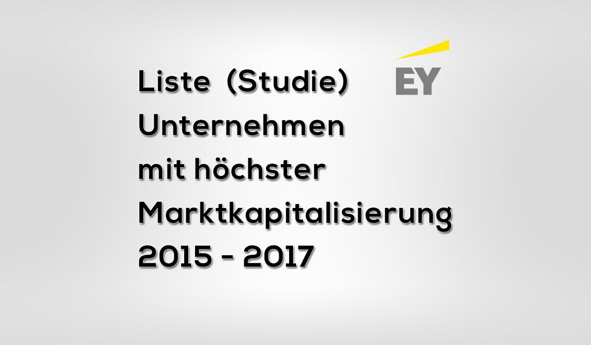 Unternehmen mit höchster Marktkapitalisierung 2015 – 2017