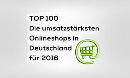 Die umsatzstärksten Onlineshops in Deutschland 2016