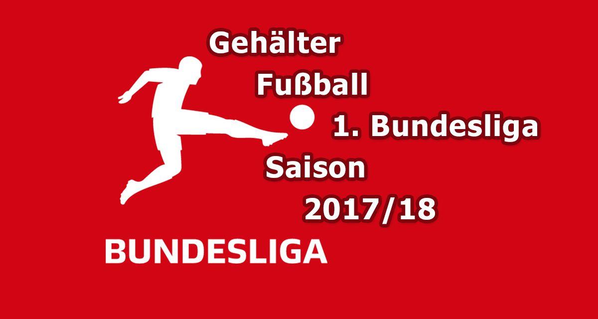 Gehälter Fußballer und Trainer in der 1. Bundesliga 2017