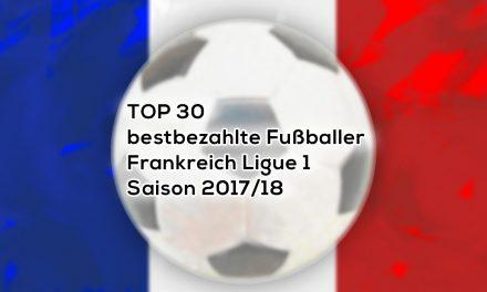 Top 30 bestbezahlte Fußballer  Frankreich 2017