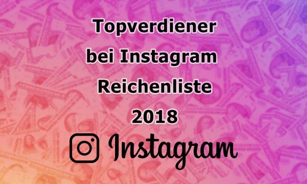 Instagram Topverdiener 2018 (Hopper HQ)
