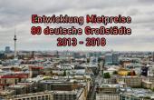 Entwicklung Mietpreise 5-Jahresvergleich 80 deutsche Großstädte 2018