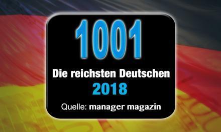 Die reichsten Deutschen 2018 – Top 1000 Reichenliste (mm)