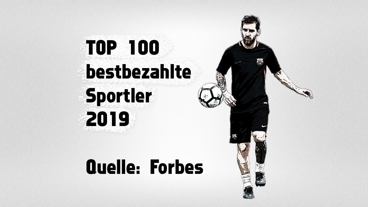 Die 100 bestbezahlten Sportler 2019 – Forbes