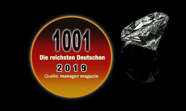 Die reichsten Deutschen 2019 – Top 1000 Reichenliste (mm)