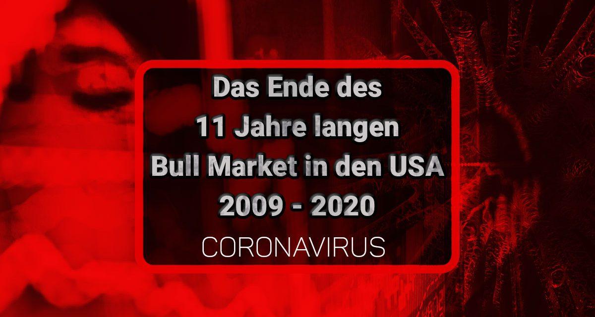Ende U.S. Bull Market 2009 – 2020